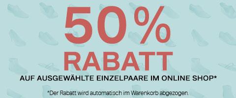 Einzelpaar-Aktion - 50% sparen!